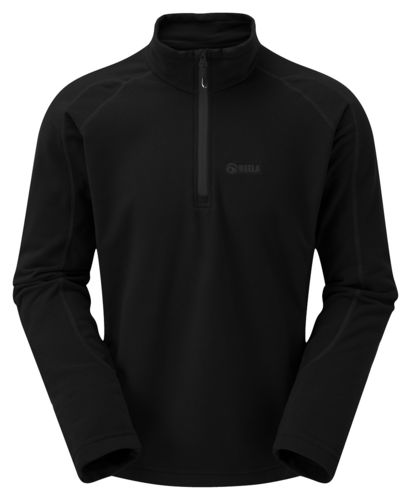Mens Micro Pulse top in Schwarz